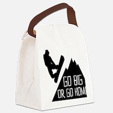 Snowboarder Go Big Canvas Lunch Bag