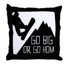 Snowboarder Go Big Throw Pillow