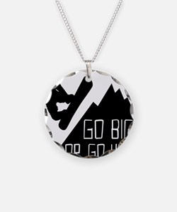 Snowboarder Go Big Necklace