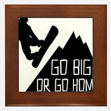 Snowboarder Go Big Framed Tile