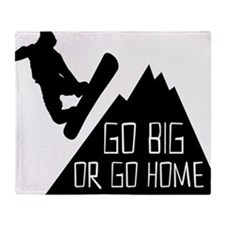 Snowboarder Go Big Throw Blanket