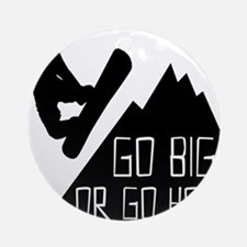 Snowboarder Go Big Round Ornament