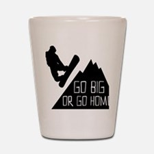 Snowboarder Go Big Shot Glass