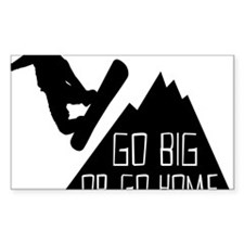 Snowboarder Go Big Decal