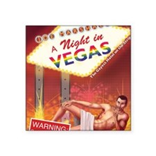 "A Night In Vegas Square Sticker 3"" x 3"""