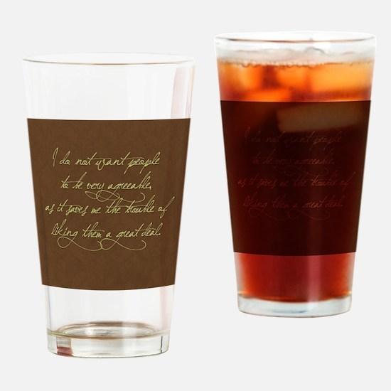 liking people Drinking Glass