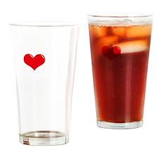 I-Love-My-Brittany-Spaniel-dark Drinking Glass