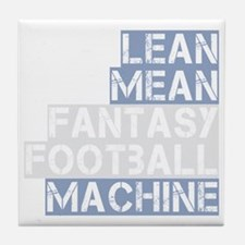 lean mean ff machine_dark Tile Coaster