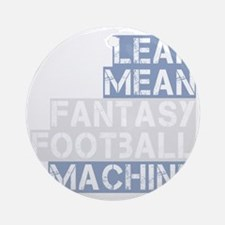 lean mean ff machine_dark Round Ornament