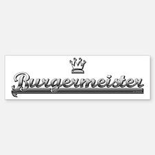 BURGER MEISTER Bumper Bumper Bumper Sticker