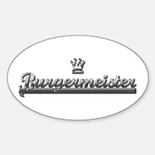BURGER MEISTER Oval Decal