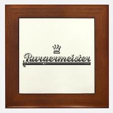 BURGER MEISTER Framed Tile