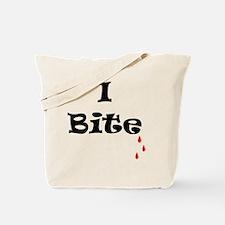 I Bite 10 x 10 Tote Bag