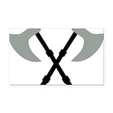 axe_2c_cross Rectangle Car Magnet