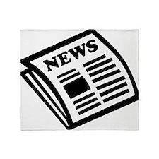 news Throw Blanket