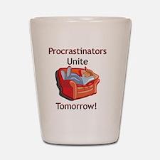 2-procrastionators copy Shot Glass