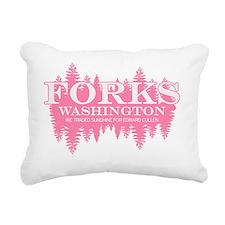 3-TwilightForksWAPink Rectangular Canvas Pillow