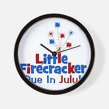 littlefirecrackerdueinjuly Wall Clock