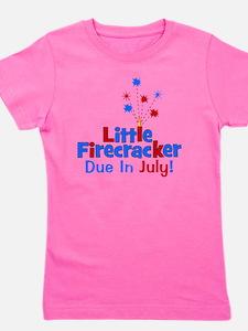 littlefirecrackerdueinjuly Girl's Tee