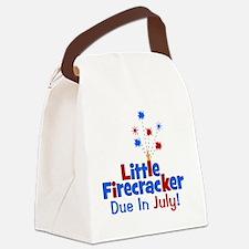 littlefirecrackerdueinjuly Canvas Lunch Bag