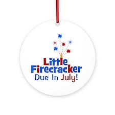 littlefirecrackerdueinjuly Round Ornament