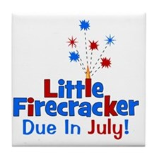 littlefirecrackerdueinjuly Tile Coaster