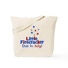 littlefirecrackerdueinjuly Tote Bag