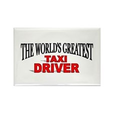 """The World's Greatest Taxi Driver"" Rectangle Magne"