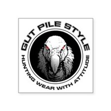 "Gut Pile Style Hunting Wear Square Sticker 3"" x 3"""