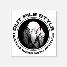 """Gut Pile Style Hunting Wear Square Sticker 3"""" x 3"""""""