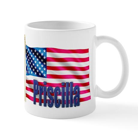 Priscilla American Flag Gift Mug