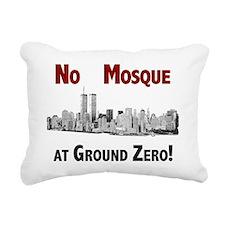 2-no mosque shirt Rectangular Canvas Pillow