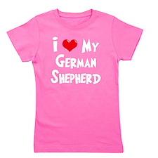 I-Love-My-German-Shepherd-dark Girl's Tee