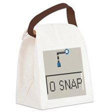 o snap 2 Canvas Lunch Bag