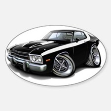 1973-74 Roadrunner Black-White Car Decal