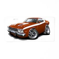 1973-74 Roadrunner Bronze-W Aluminum License Plate