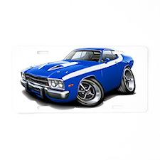 1973-74 Roadrunner Blue-Whi Aluminum License Plate