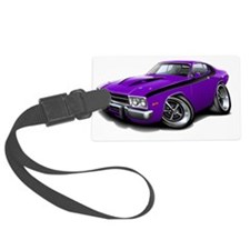 1973-74 Roadrunner Purple-Black  Luggage Tag