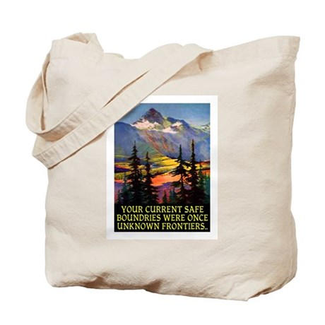 UNKNOWN FRONTIERS... Tote Bag