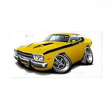 1973-74 Roadrunner Yellow-B Aluminum License Plate