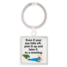 ass-falls-off Square Keychain