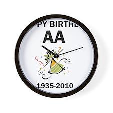 aa-birthday-1 Wall Clock