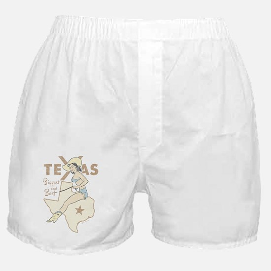 Faded Texas Pinup Boxer Shorts