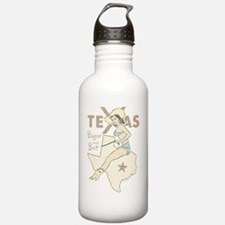 Faded Texas Pinup Water Bottle