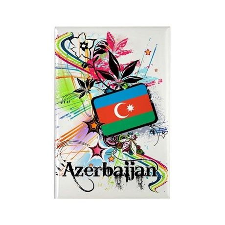flowerAzerbaijan1 Rectangle Magnet