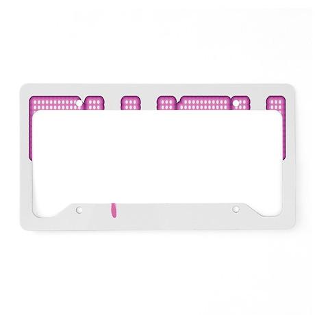 Lil pink crush blush License Plate Holder