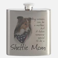 SheltieMom#1 Flask
