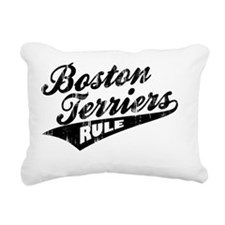Boston-Terriers-Rule-Bal Rectangular Canvas Pillow