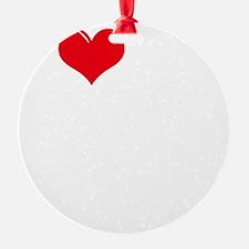 I-Love-My-Boston-Terrier-dark Ornament