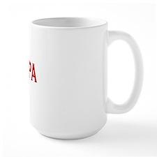 papa dark shirt red letters copy Mug